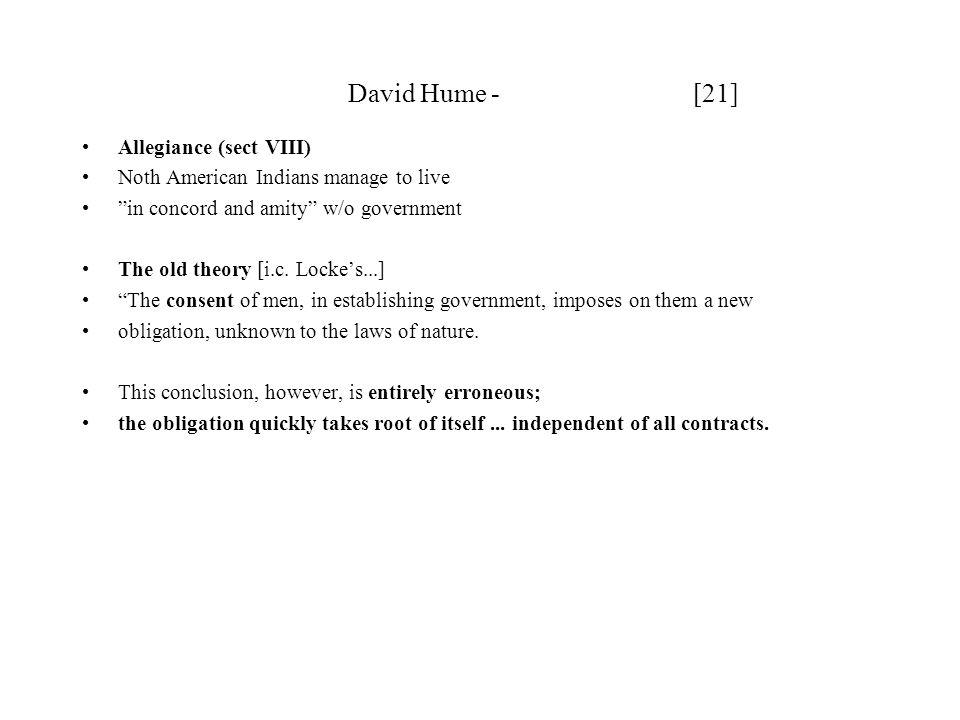 David Hume - [21] Allegiance (sect VIII)